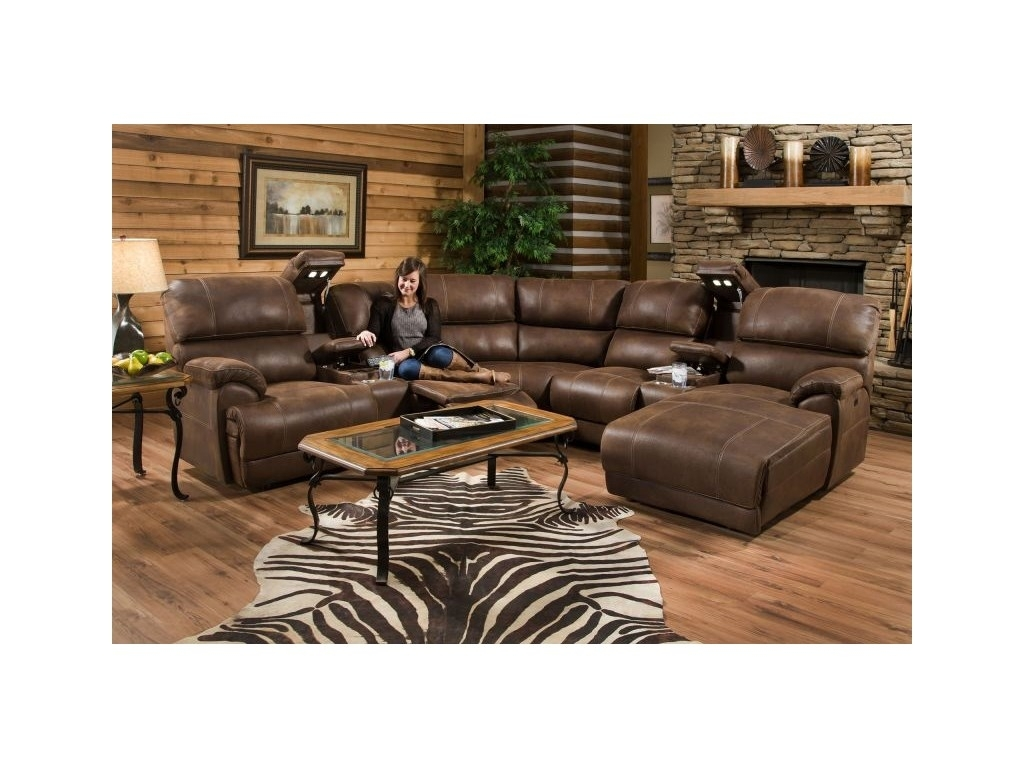 "Franklin Living Room Empire Power Sectional, 40"" Tv Free 55Empire Intended For Lubbock Sectional Sofas (Image 3 of 10)"