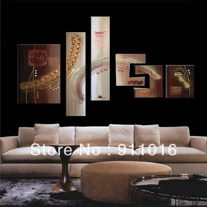 Free Shipping 100%handmade Textured Modern Oil Painting On Canvas With Inexpensive Abstract Metal Wall Art (Image 5 of 15)