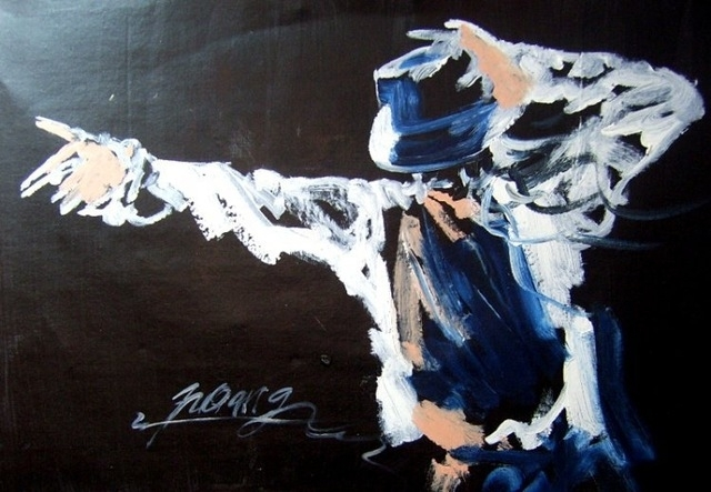 Free Shipping Handmade Modern Abstract Michael Jackson Dance Intended For Michael Jackson Canvas Wall Art (Image 4 of 15)