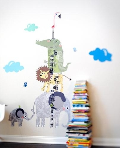 Free Shipping – Large Colorful Peel And Stick Growth Chart In Fabric Wall Art Stickers (View 14 of 15)