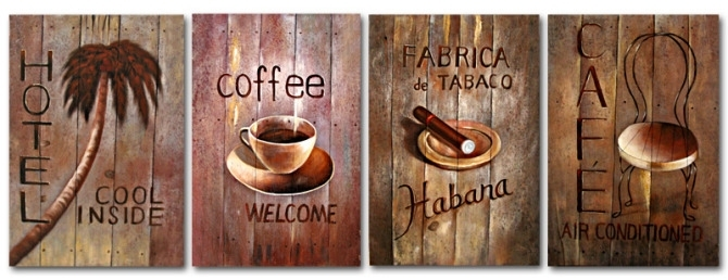 Free Shipping The Coffee Shop Decoration Painting Artwork With For Coffee Canvas Wall Art (View 10 of 15)