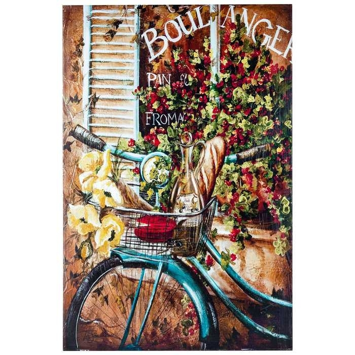 French Bicycle Canvas Wall Art From Hobby Lobby | Nobody Likes Intended For Canvas Wall Art At Hobby Lobby (Image 6 of 15)