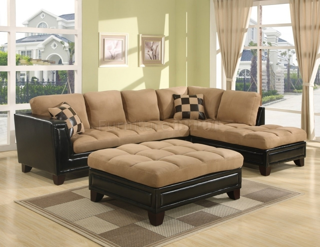 Fresh Leather And Suede Sectional Sofa 90 With Additional For Inside Leather And Suede Sectional Sofas (Image 3 of 10)