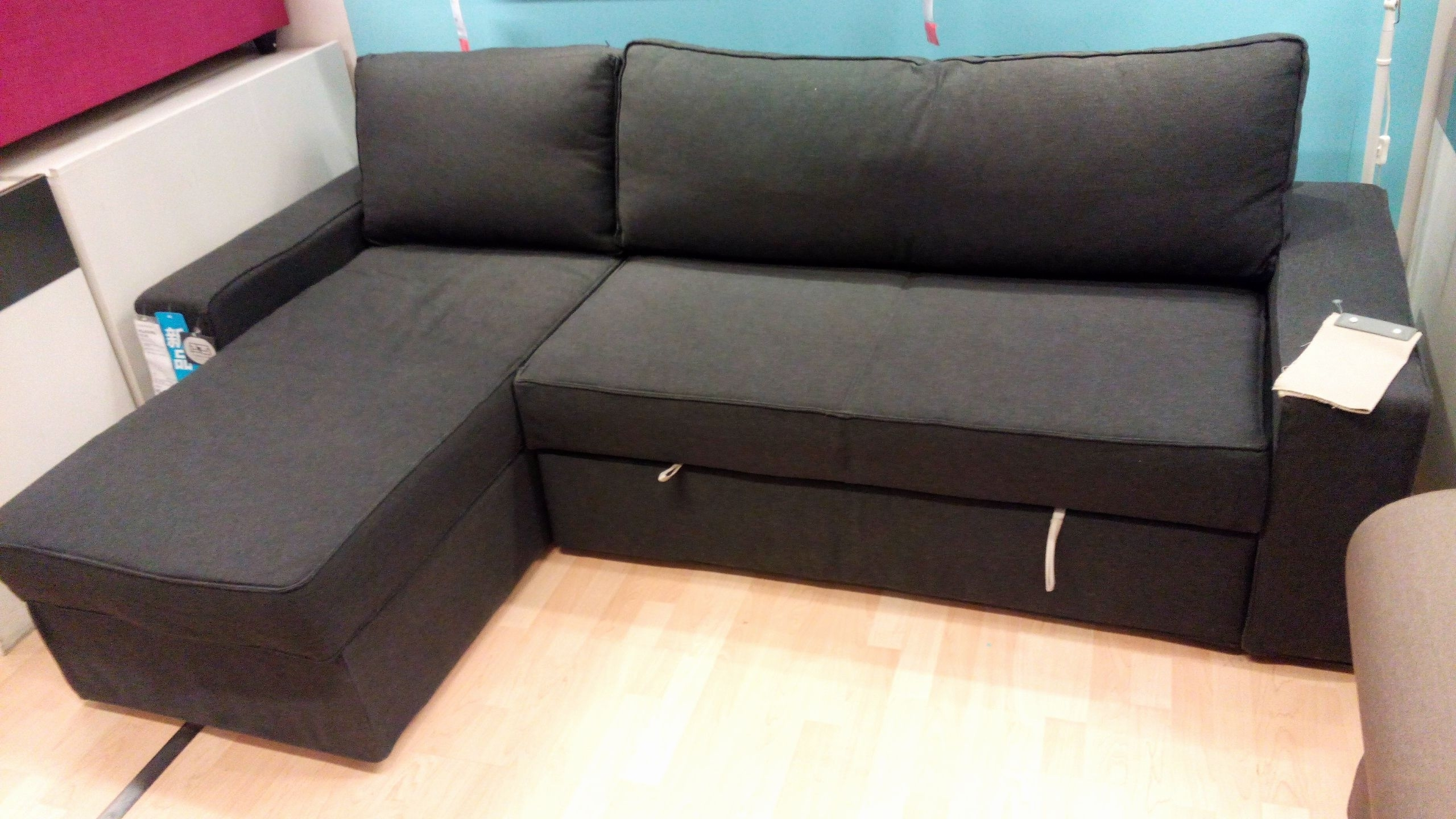 Fresh Sectional Sofa Bed With Storage Pictures Sectional Sofa Bed Intended For Manstad Sofas (Image 2 of 10)