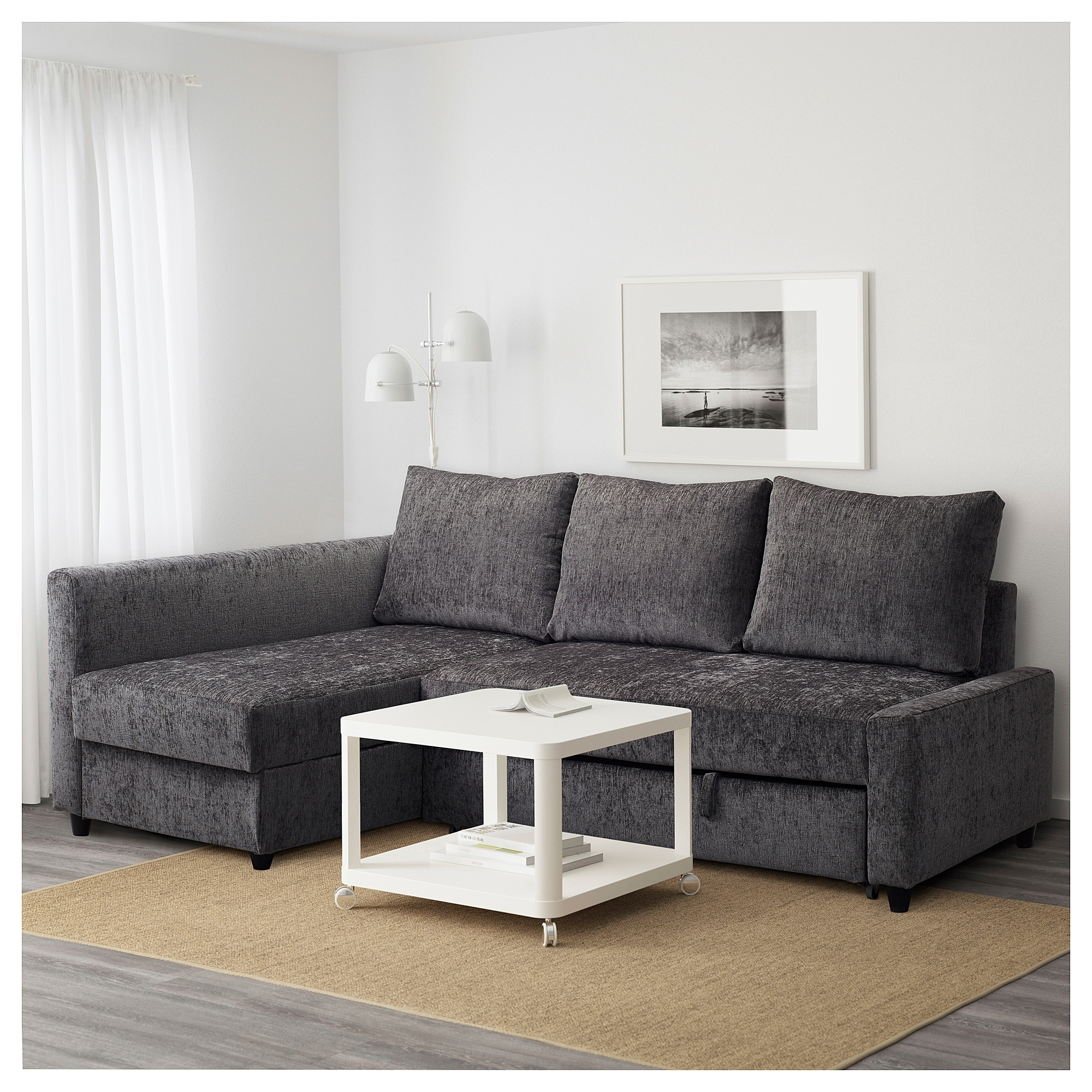 Friheten Corner Sofa Bed With Storage Dark Grey – Ikea With Ikea Corner Sofas With Storage (View 6 of 10)