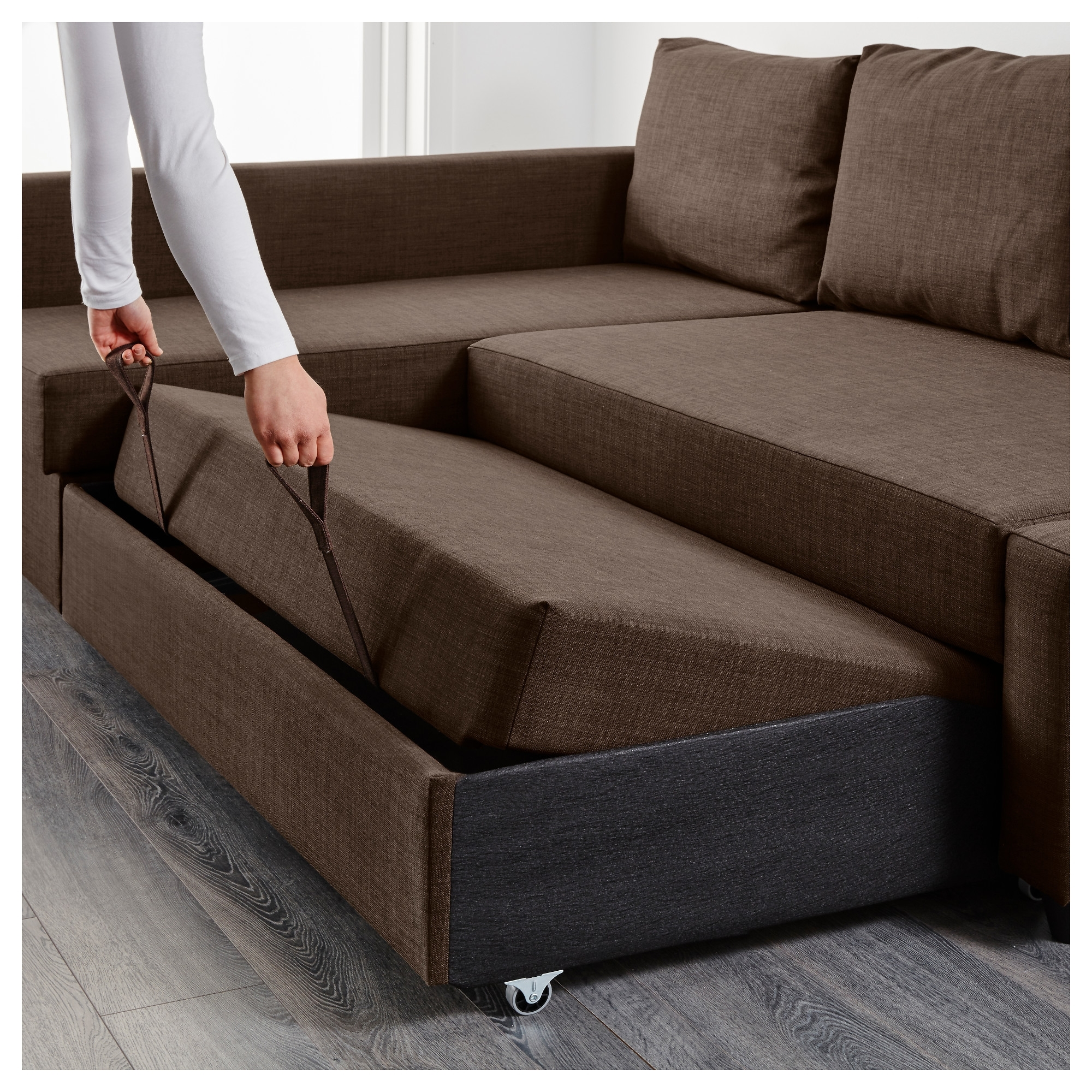 Friheten Corner Sofa Bed With Storage – Skiftebo Dark Gray – Ikea Regarding Sectional Sofas That Turn Into Beds (Image 4 of 10)