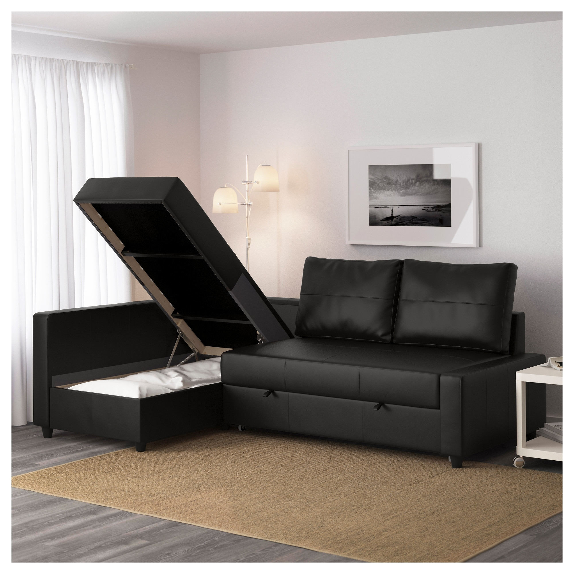 Friheten Sleeper Sectional,3 Seat W/storage – Skiftebo Dark Gray – Ikea Throughout Sectional Sofas With Storage (Image 4 of 10)