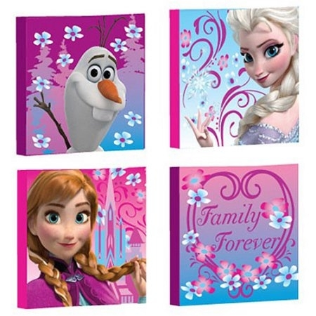 Frozen Peel And Stick Wall Decals – Walmart Regarding Elsa Canvas Wall Art (Image 13 of 15)
