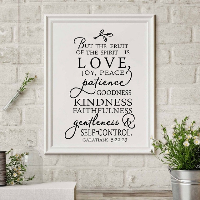 Fruit Of The Spirit Christian Canvas Art Print Poster Wall Picture For Joy Canvas Wall Art (View 9 of 15)