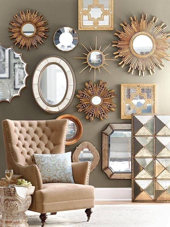Fulgurant Decorative Wall Mirror Mirrors Ideas For Living Room In Mirrors Wall Accents (Image 3 of 15)