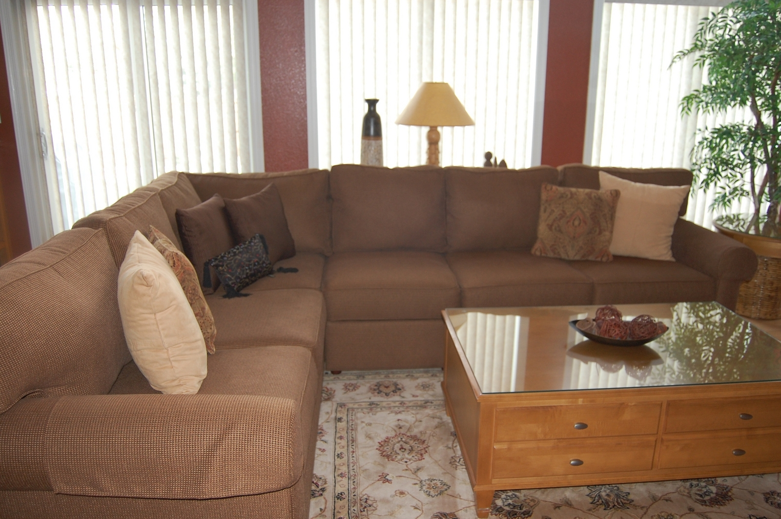 Furniture: Beige Ethan Allen Sectional Sofas With Feizy Rug And regarding Sectional Sofas at Ethan Allen