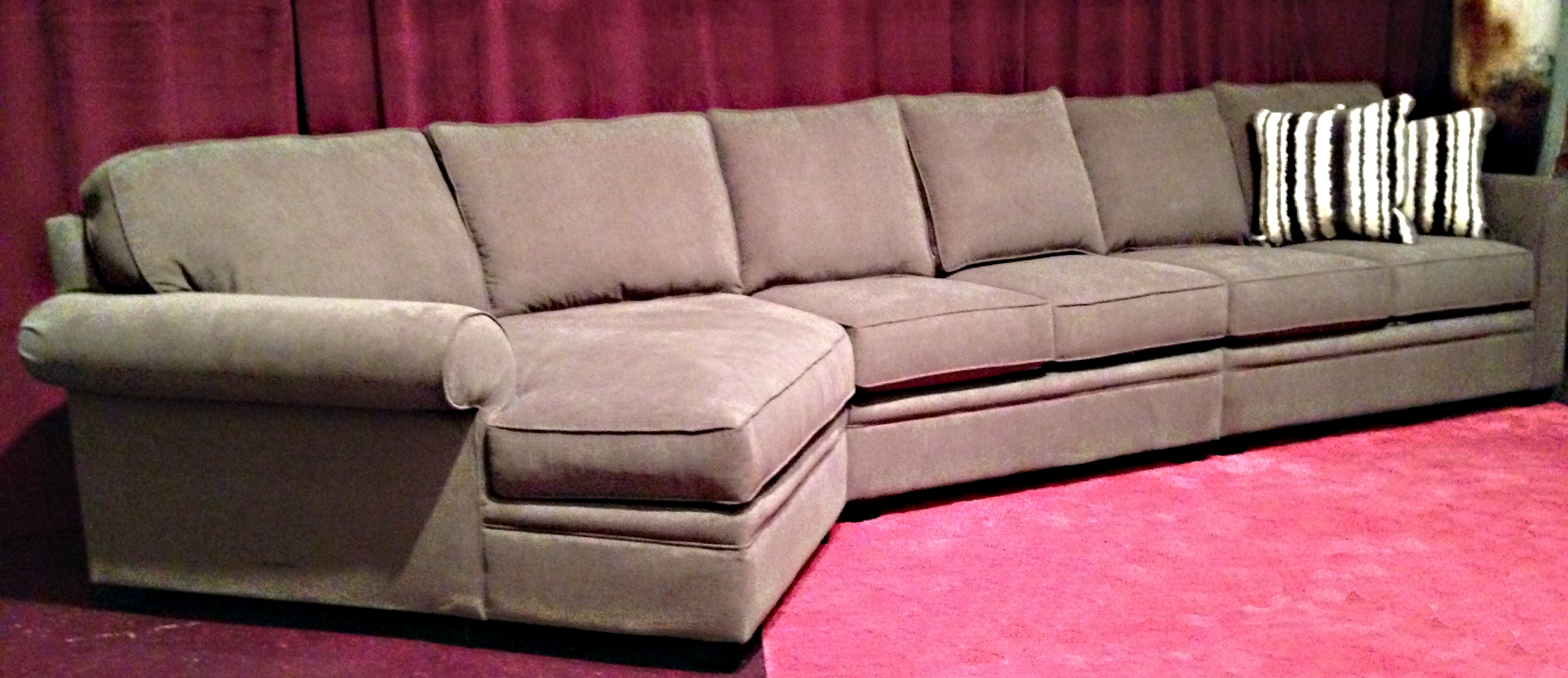 Furniture: Comfy Design Of Oversized Couch For Charming Living Room In Sectional Sofas At Amazon (Image 6 of 10)