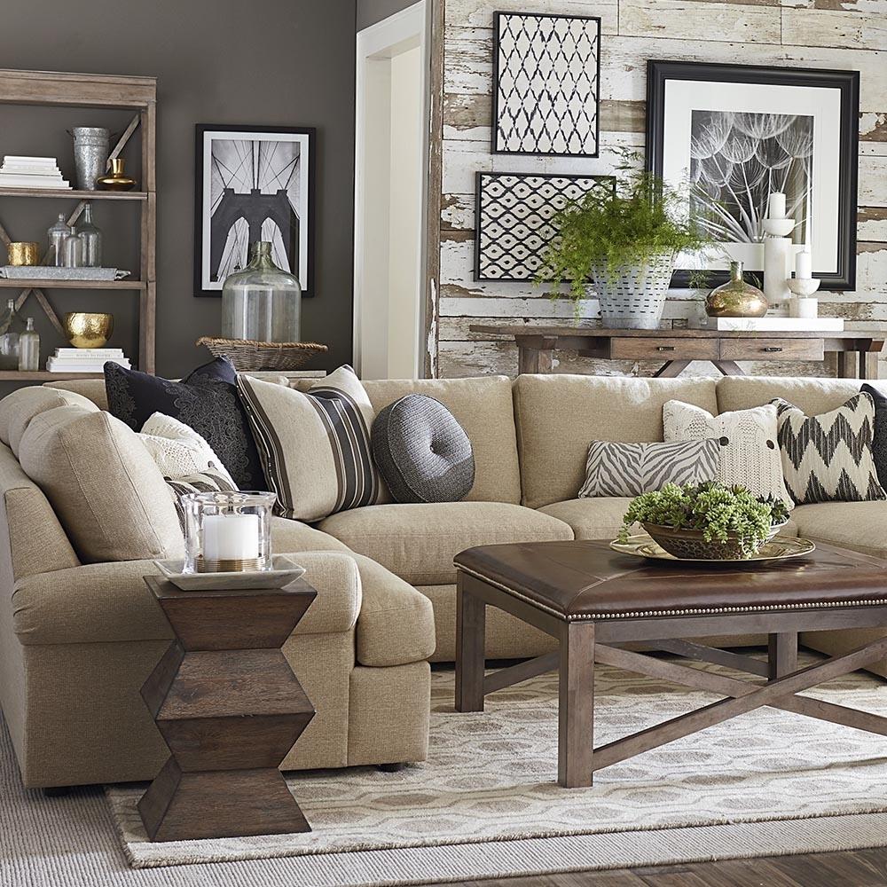 Furniture: Elegant Beige Sectional Sofavaughan Bassett Furniture In Vaughan Sectional Sofas (View 9 of 10)