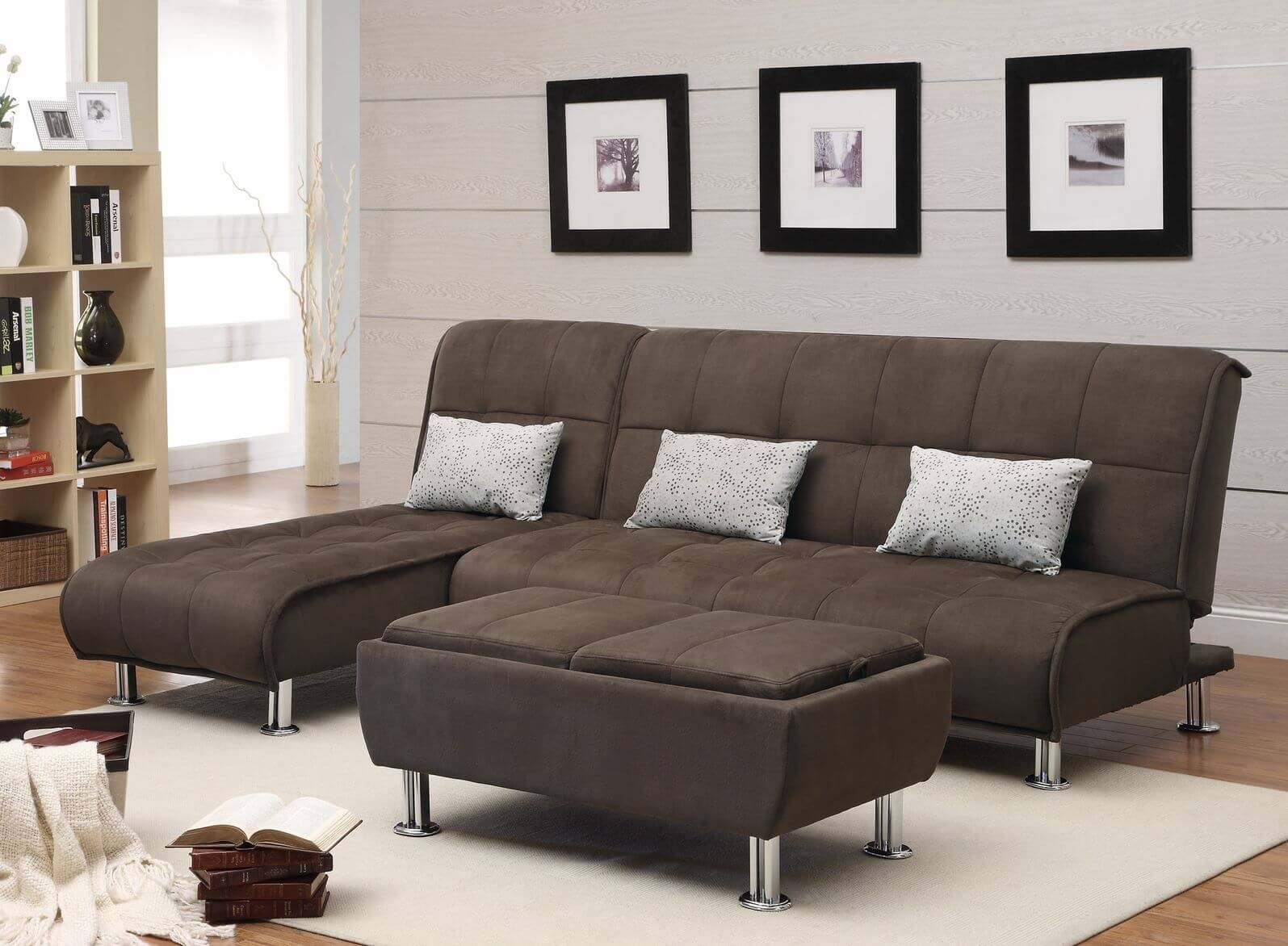 Furniture : Ethan Allen Wood Sofa Chaise Lounge Furniture Indoor Regarding Quad Cities Sectional Sofas (Image 7 of 10)
