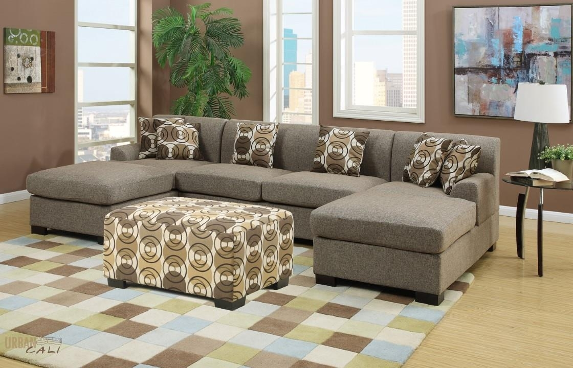 Furniture: Hayward Sandstone Small U Shaped Sectional Sofa Set With Deep U Shaped Sectionals (Image 7 of 10)