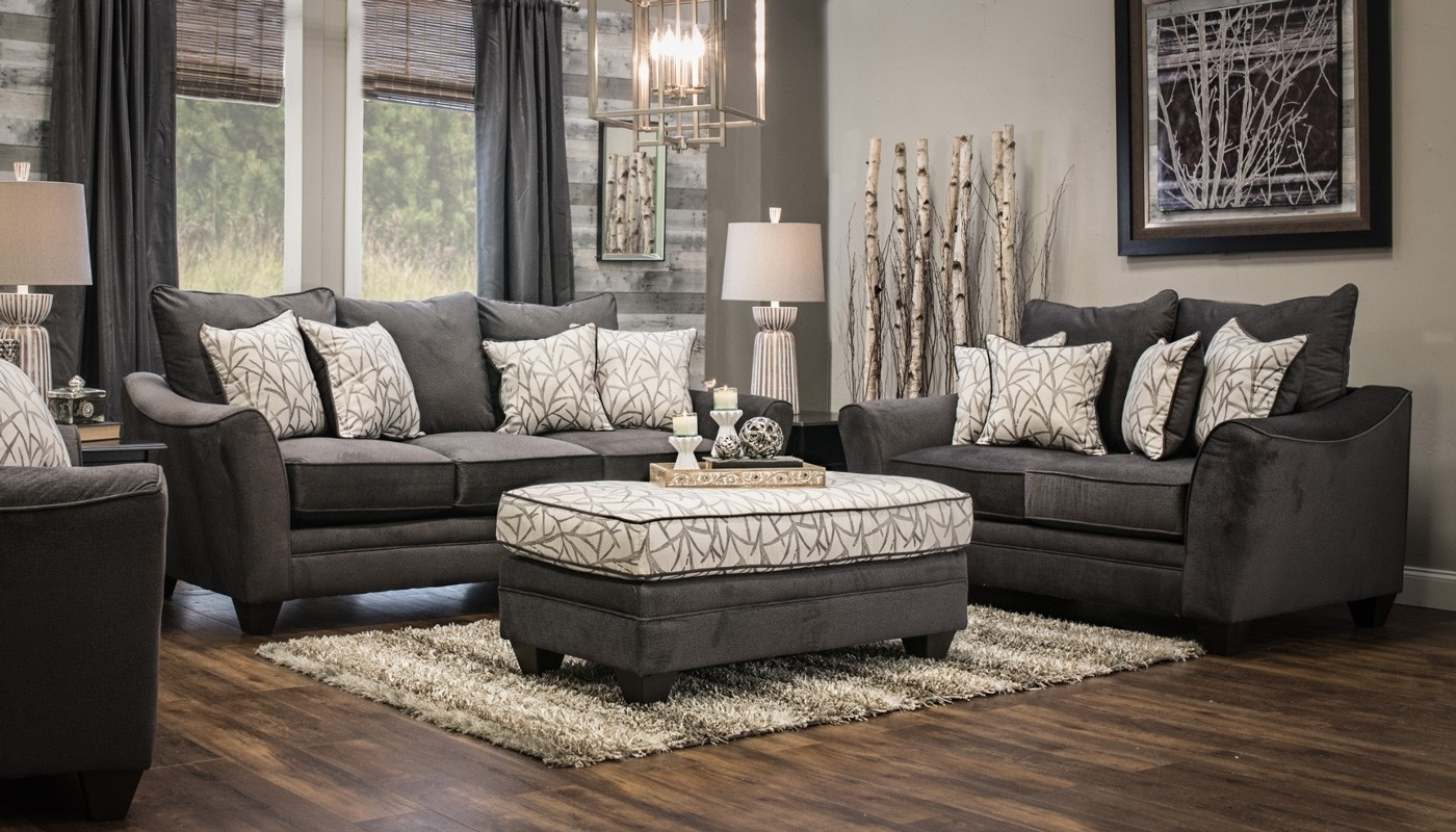 Furniture: Home Zone Furniture Ottoman Coffee Table And Grey Regarding Home Zone Sectional Sofas (View 4 of 10)