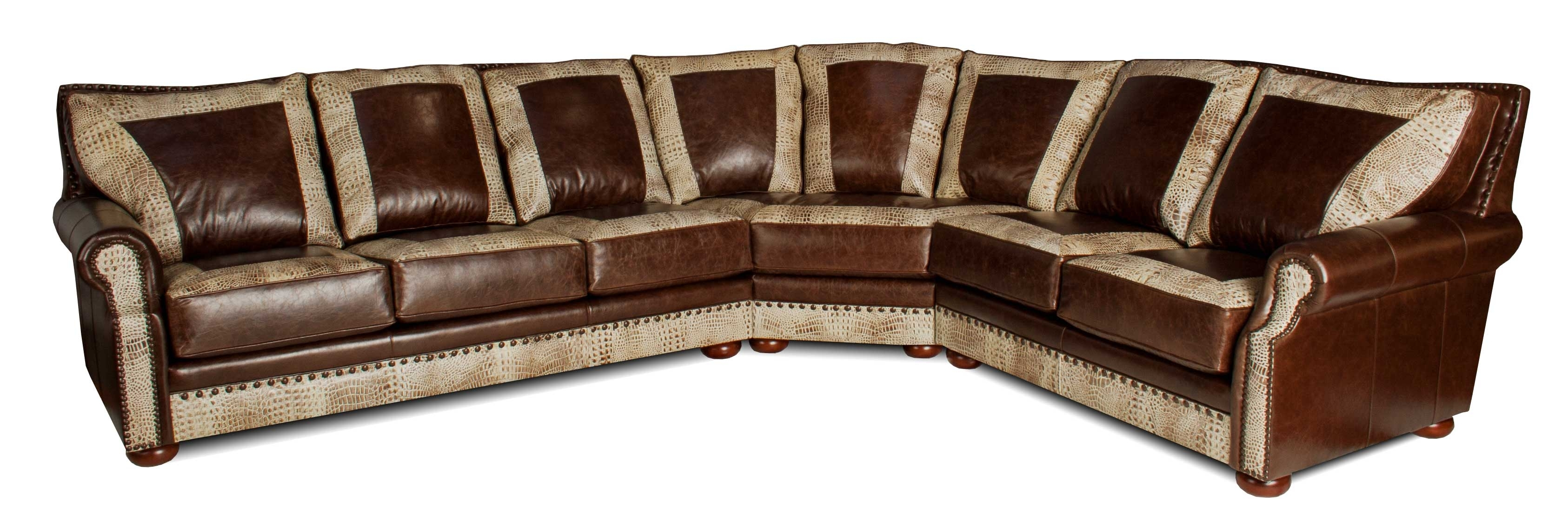 Furniture : Lovely Custom Leather Sectional Sofa 12 For Your Inside Kitchener Sectional Sofas (View 6 of 10)