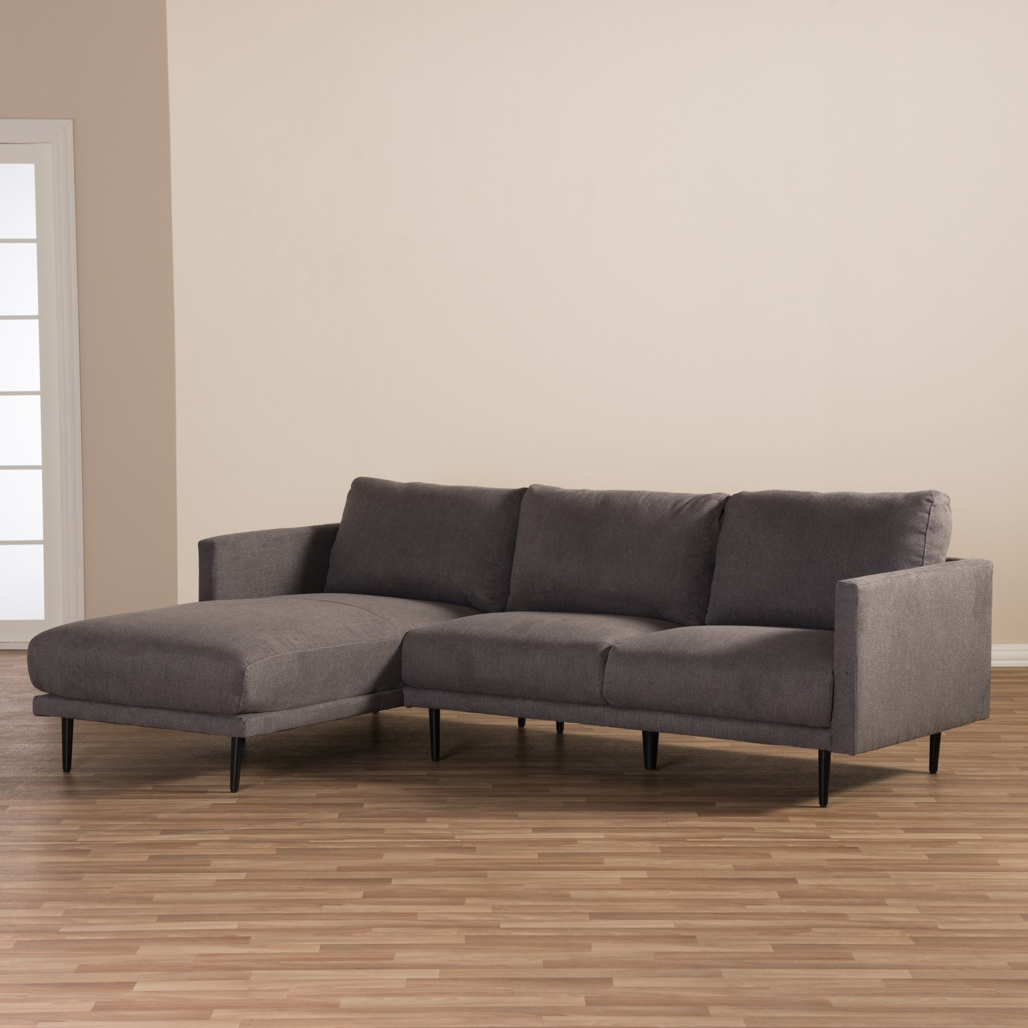 Furniture: Modern Grey Sectional | Sectional Sofas Chicago | Baxton With Sectional Sofas At Chicago (View 7 of 10)