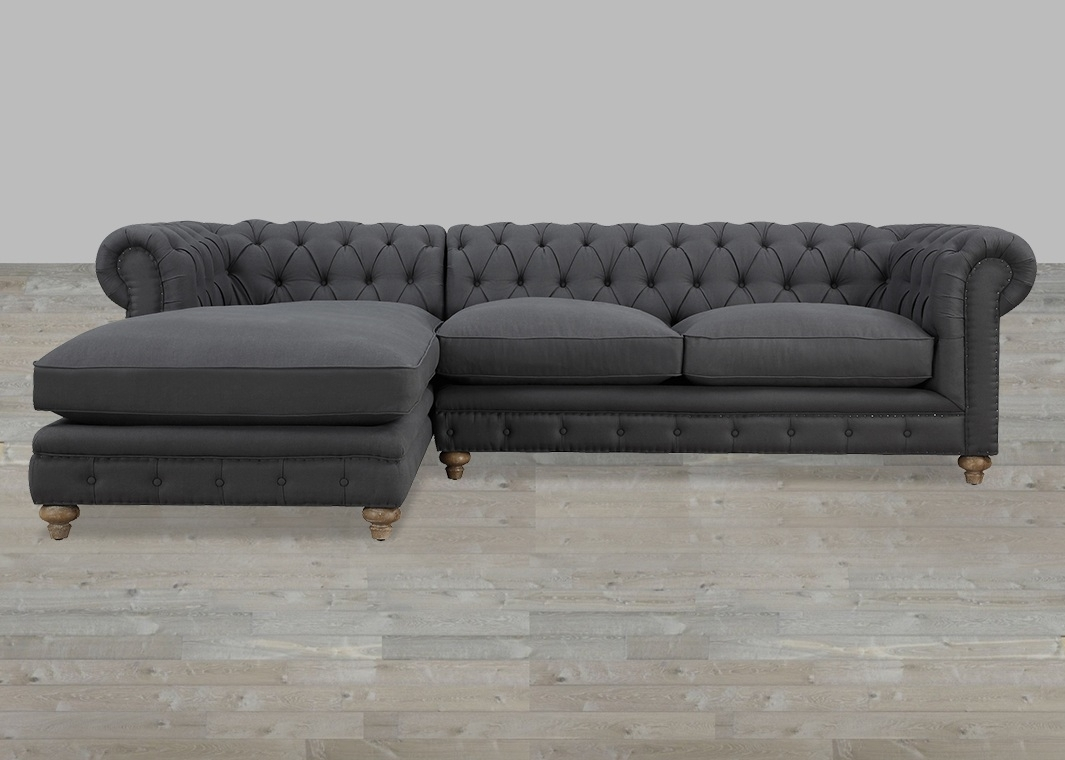 Furniture : Modern Tufted Sleeper Sofa Geovany Leather Tufted Sofa Regarding Oshawa Sectional Sofas (View 3 of 10)