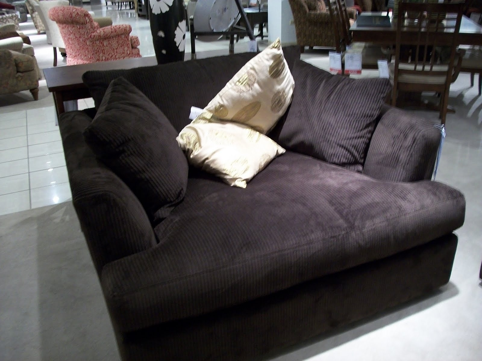 Furniture: Oversized Loveseat With Ottoman And Oversized Loveseat Regarding Loveseats With Ottoman (View 4 of 10)