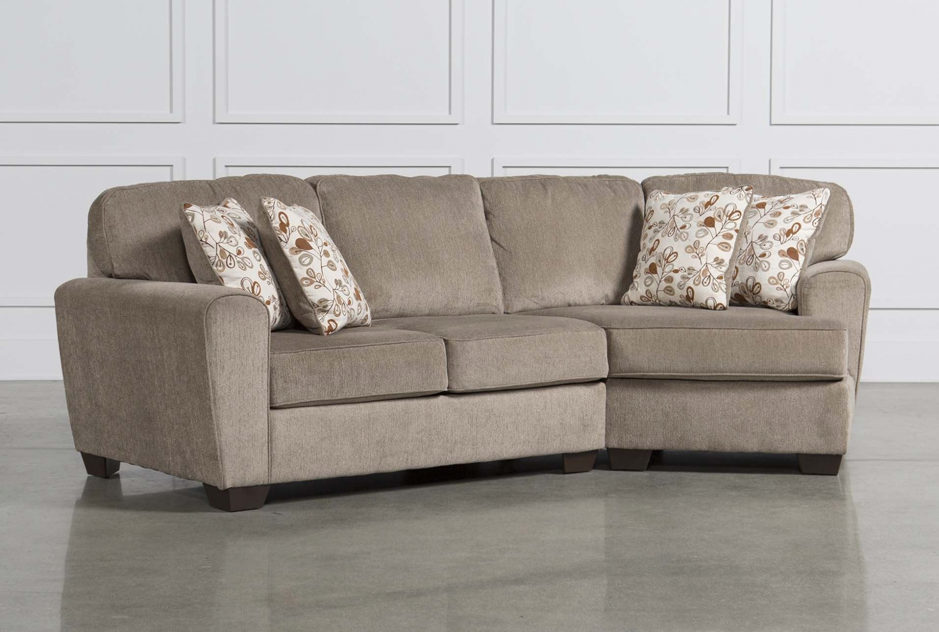 Furniture: Patola Park 4 Piece Sectional W Raf Cuddler Living Spaces Within Sectional Sofas With Cuddler (View 8 of 10)