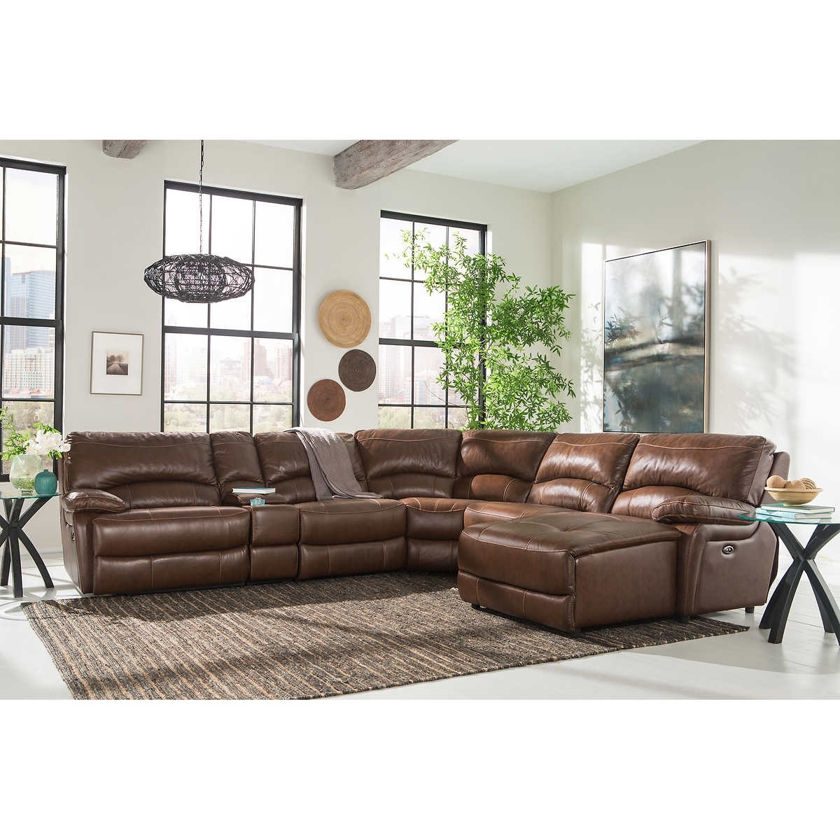 Furniture: Sofa 6 Piece Leather Sectional Sofa Cooper 6 Piece Leather Throughout 6 Piece Leather Sectional Sofas (View 4 of 10)