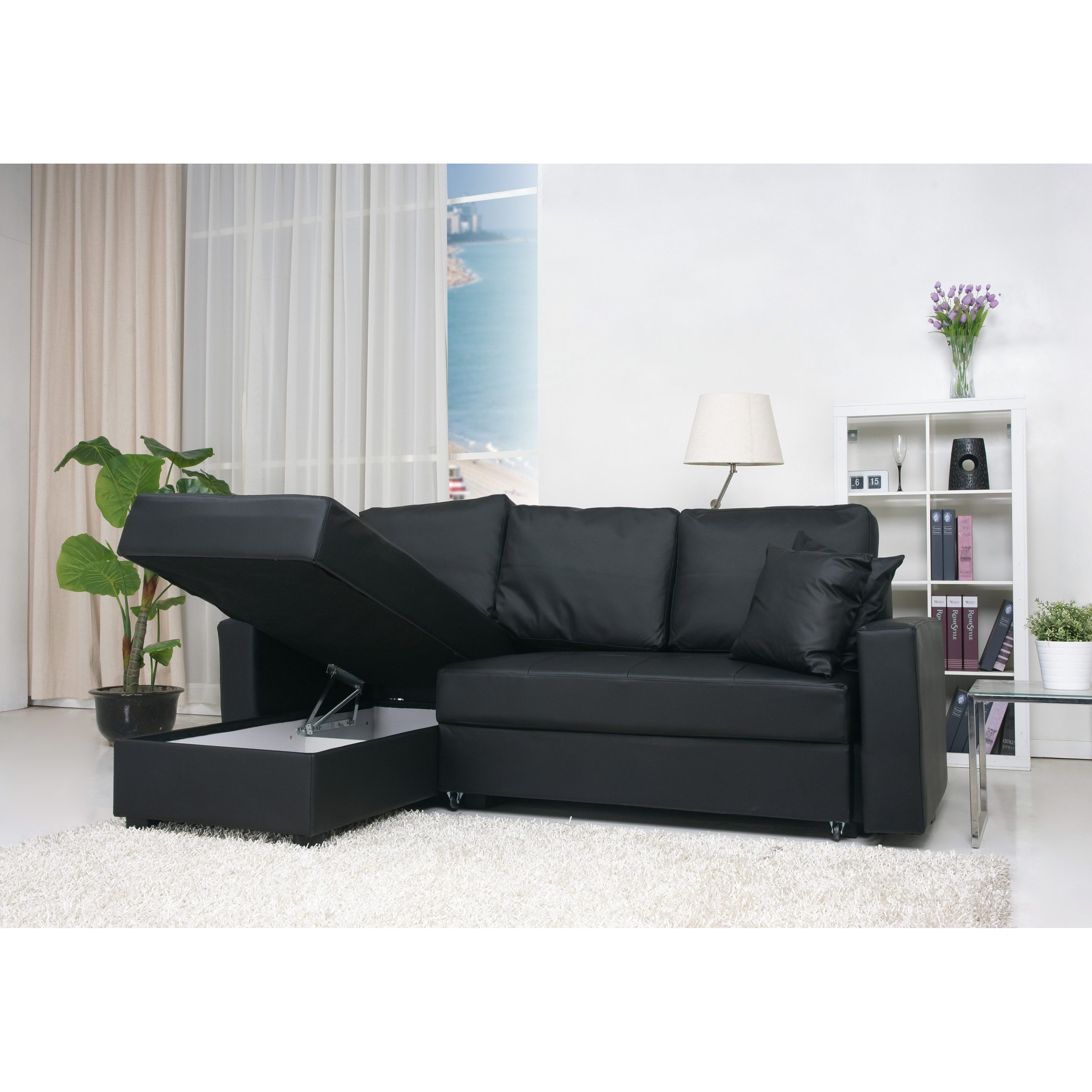 Furniture & Sofa: Compact Sectional Sofas | Small Spaces Regarding Sectional Sofas At Ebay (Image 3 of 10)