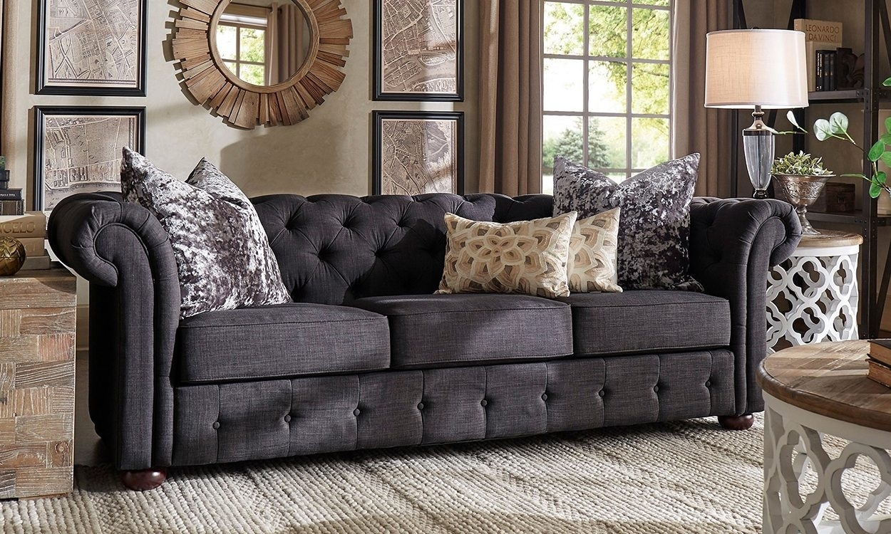 Furniture : Sofa With Chaise Leather Grey Sofa In Family Room Intended For Joplin Mo Sectional Sofas (Image 4 of 10)