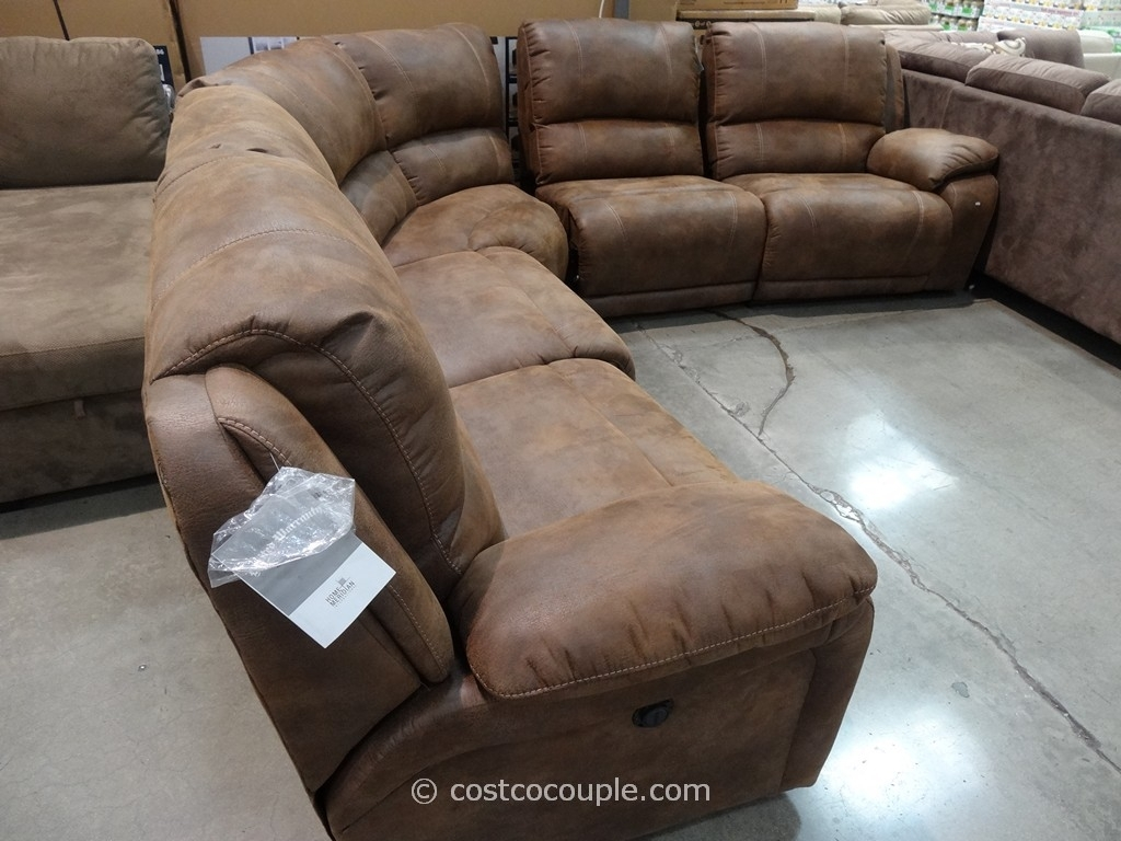 Furniture: Stunning Home Furniture With Cool Costco Leather With Regard To Sectional Sofas With Power Recliners (View 8 of 10)