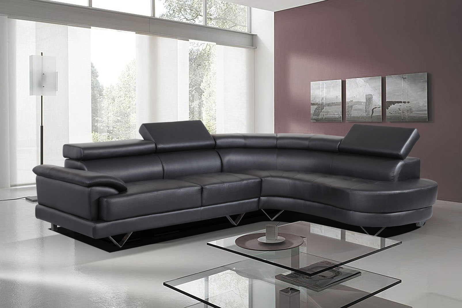 Furniture: Stunning Leather Corner Sofas Cheap Leather Corner Sofas In White Leather Corner Sofas (Image 5 of 10)