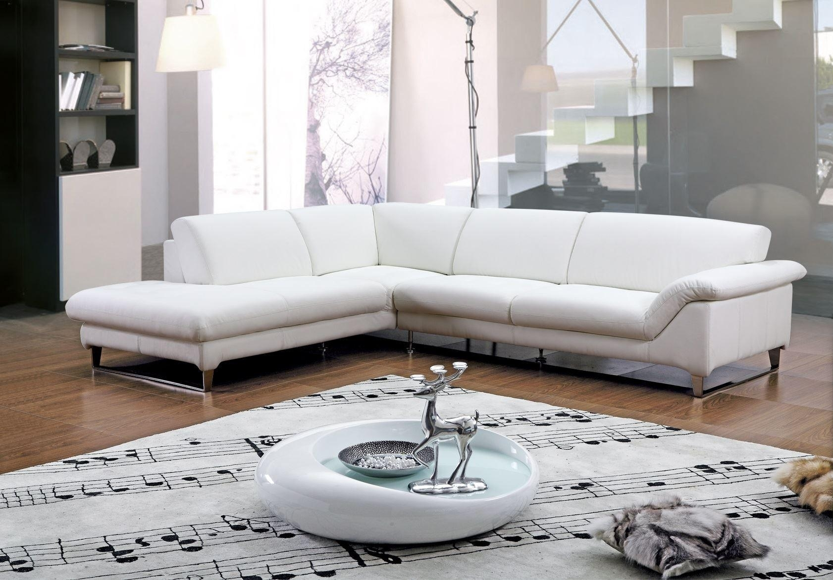 Furniture : White Leather Sectional Couch Fresh Emejing Wooden For White Leather Corner Sofas (Image 4 of 10)