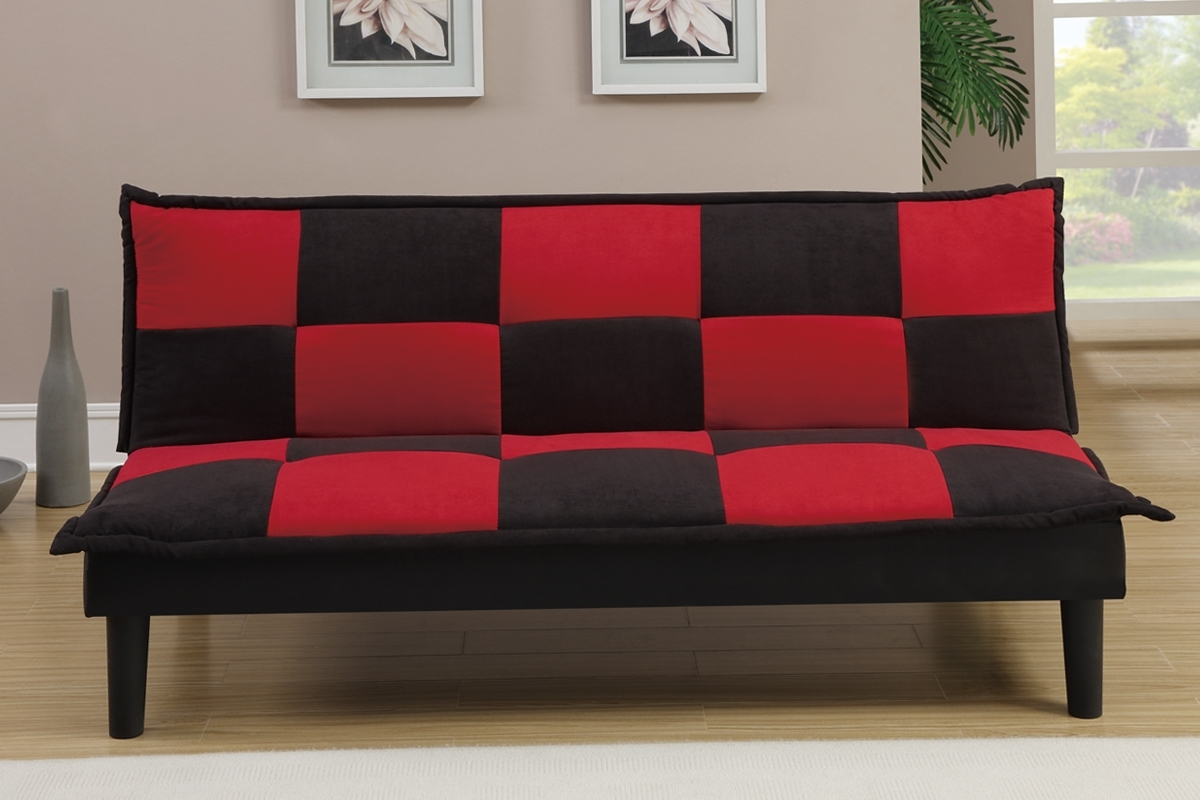 Futons & Sofa Beds, Living Room – Red And Black Sofa Bed Inside Red And Black Sofas (View 8 of 10)