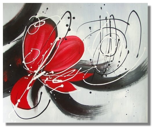 G3 With Red Flowers Canvas Wall Art (Image 4 of 15)