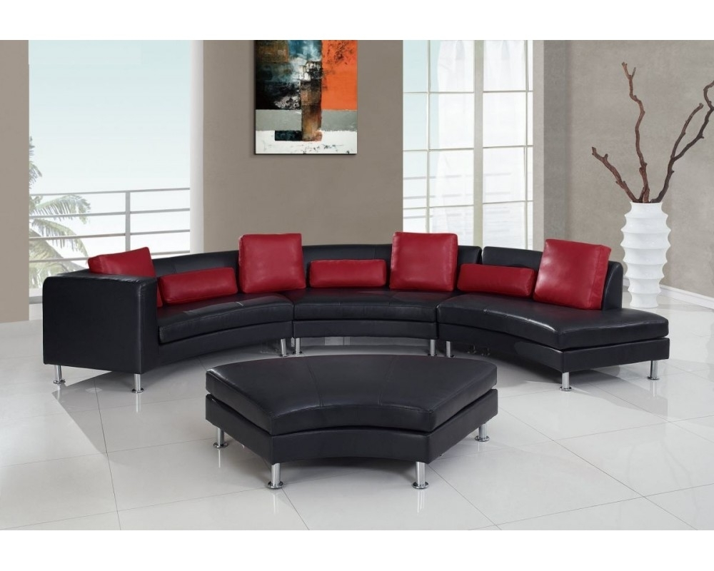 G919 Black/red Sectional Sofa For Queens Ny Sectional Sofas (Image 5 of 10)