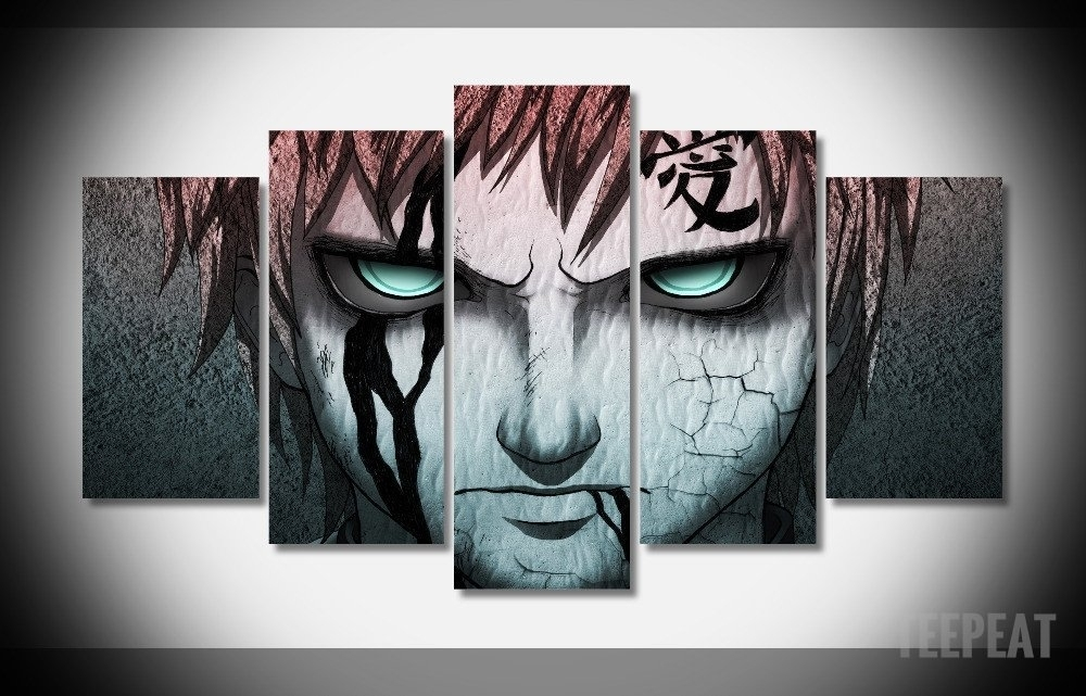 Gaara – 5 Piece Canvas Limited Edition – The Nerd Cave – 1 Regarding Anime Canvas Wall Art (View 11 of 15)