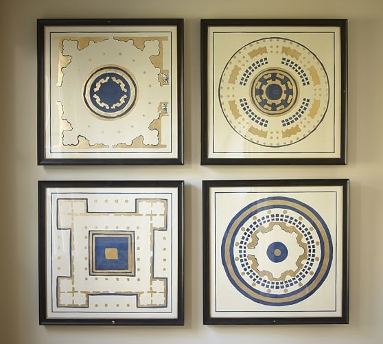 Garden In Gold Framed Prints Pottery Barn Contemporary Art Within Pertaining To Framed Art Prints (View 12 of 15)