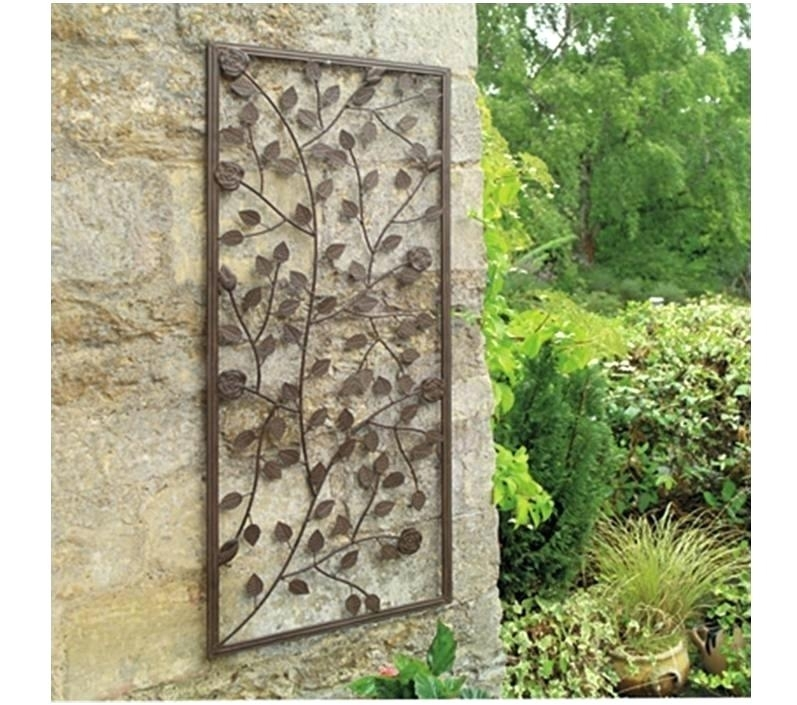 Garden Wall Decorations Outdoor Garden Wall Decor Garden Wall In Garden Wall Accents (Image 7 of 15)