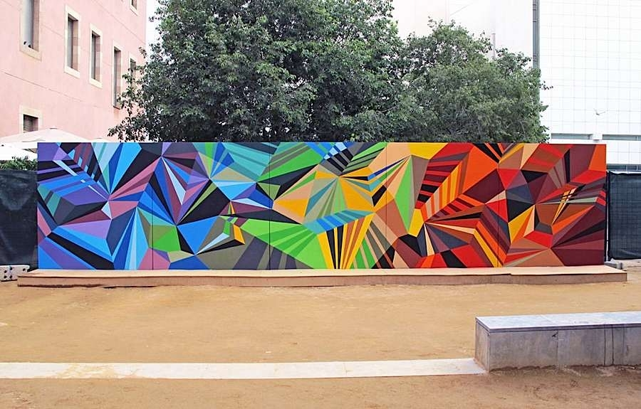 Geometric Graffiti Murals Regarding Abstract Graffiti Wall Art (View 9 of 15)