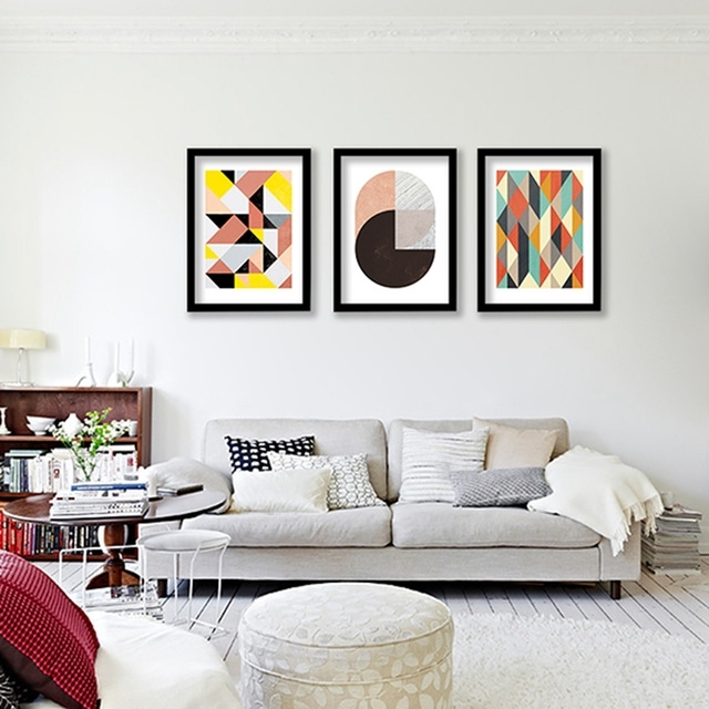 Geometric Patterns Wall Art Canvas Print , Colorful Wall Painting Regarding Abstract Office Wall Art (View 5 of 15)