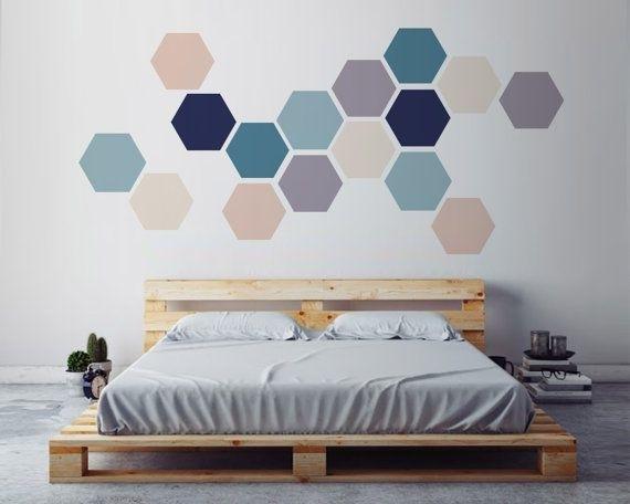 Geometric Wall Art, Removable Wall Sticker (Image 9 of 15)