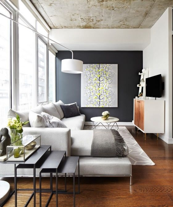 Get The Look: 11 Cozy Living Rooms | Narrow Living Room, Cozy And Intended For Wall Accents For Narrow Room (Image 7 of 15)