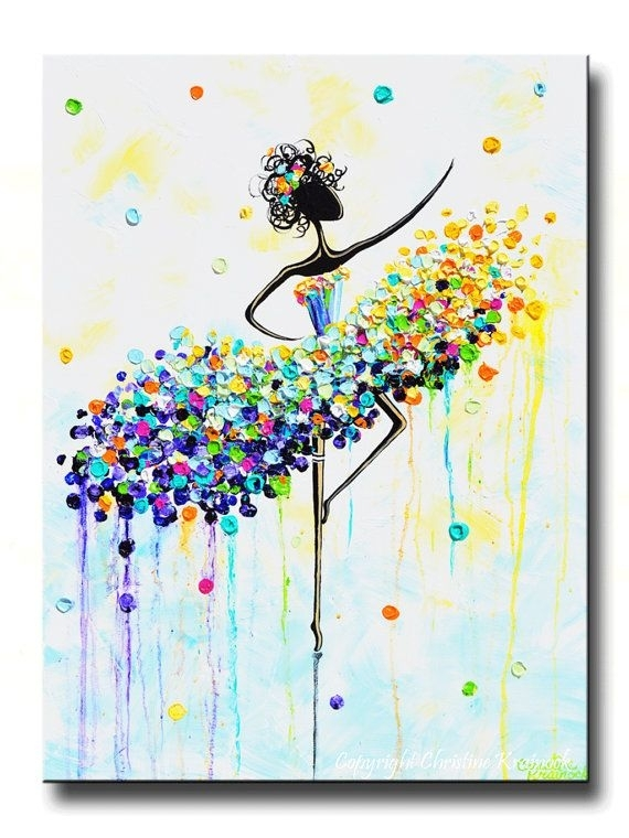 Giclee Print Of Abstract Dancer Painting Modern Large Art Wall Pertaining To Joy Canvas Wall Art (View 4 of 15)