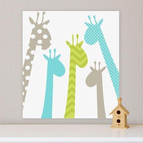 Giraffe, Children's Wall Art, Nursery Wall Art, Giraffe Nursery For Giraffe Canvas Wall Art (View 11 of 15)