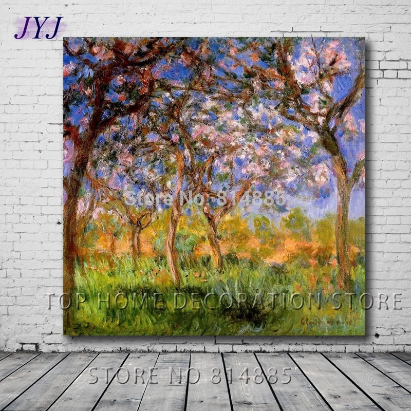 Giverny In Springtime 1900Claude Monet Canvas Art 100 With Regard To Monet Canvas Wall Art (Image 7 of 15)