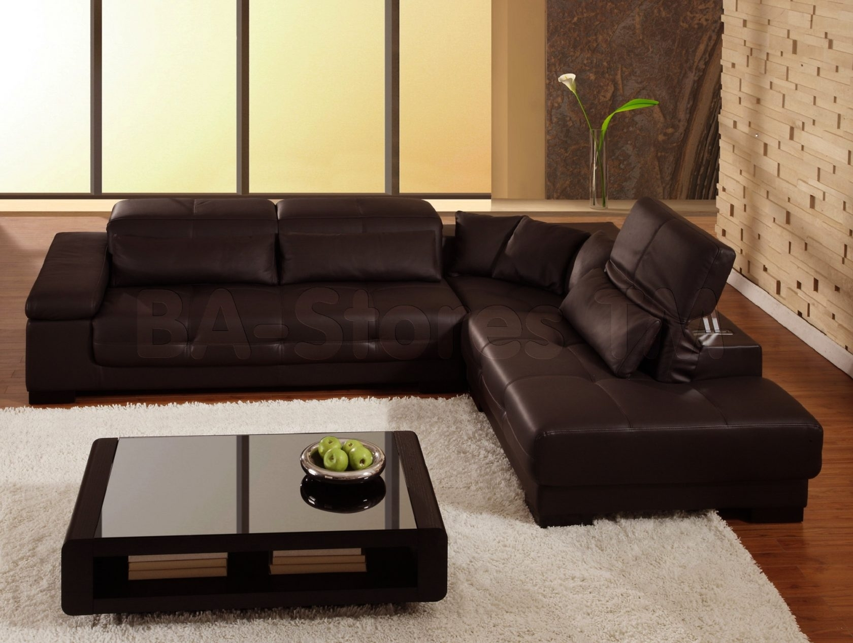 Glamorous Brown Leather Sectional Sofa Clearance 15 For Sectional With Regard To Clearance Sectional Sofas (Image 8 of 10)