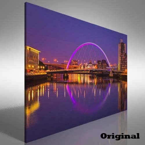 Glasgow Waterside Canvas Print Large Picture Wall Art | Ebay For Glasgow Canvas Wall Art (View 3 of 15)