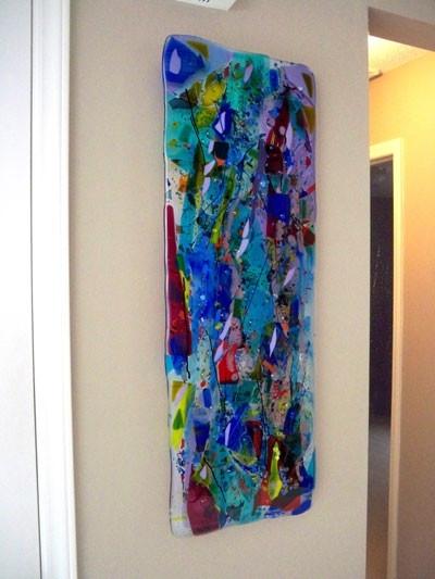 Glass Wall Art Panels Regarding Contemporary Textile Wall Art (Image 10 of 15)