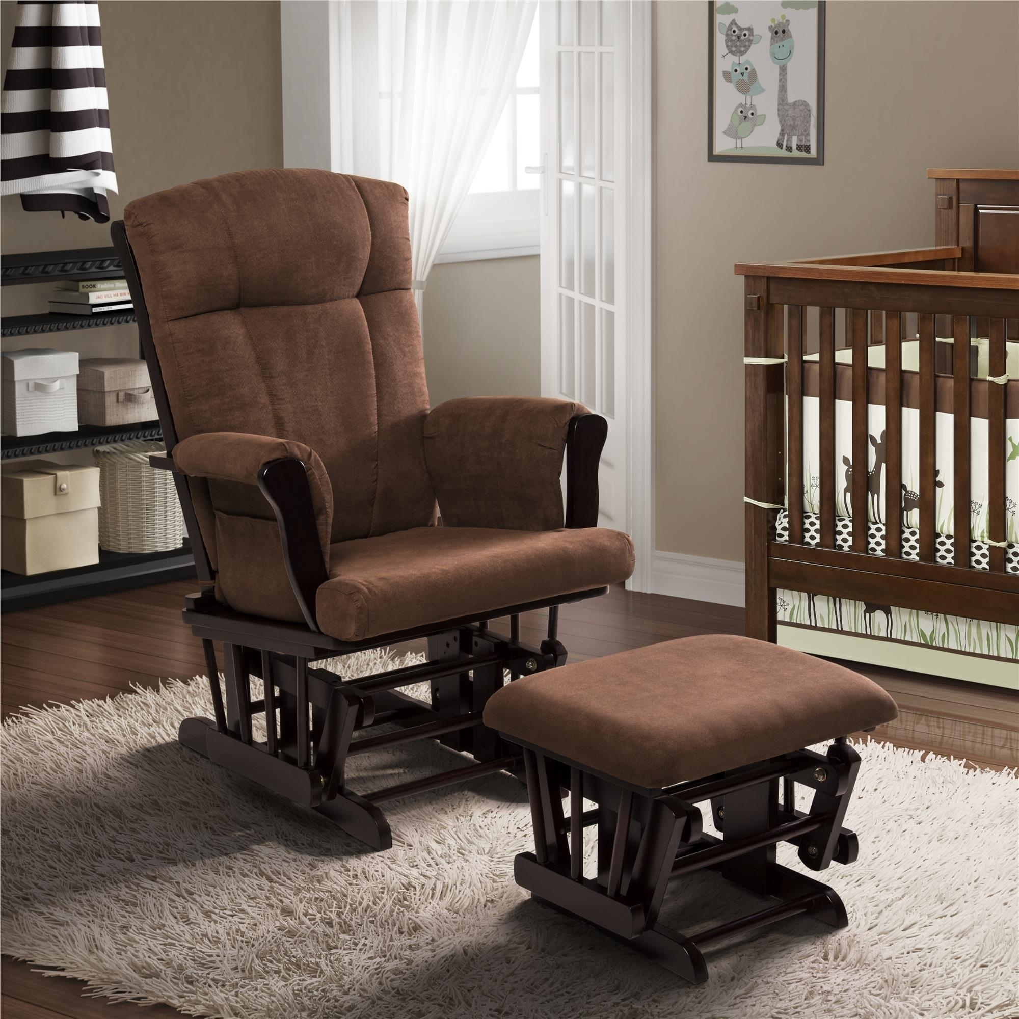 Glider Rocking Chair And Ottoman Stylish Dorel Living Ba Relax Regarding Gliders With Ottoman (View 6 of 10)