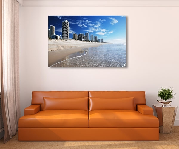 Goldcoast Beach Canvas Art Print ‰óâ Kitchen Prints On Canvas Intended For Gold Coast Canvas Wall Art (View 11 of 15)