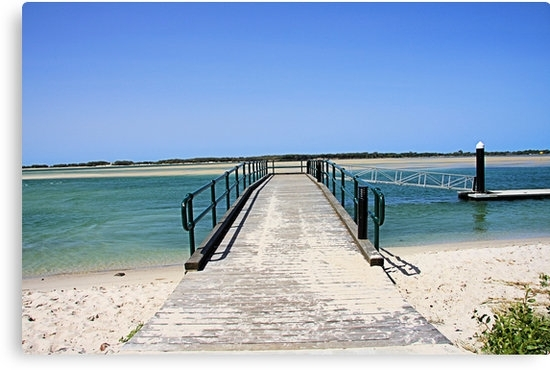 "Golden Beach Jetty"" Canvas Printsjack01 